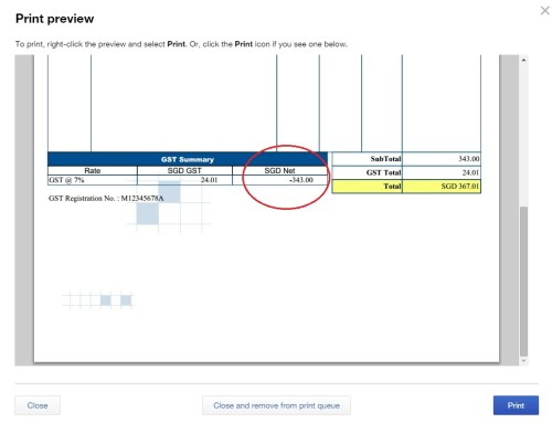 QBO sales invoice issue