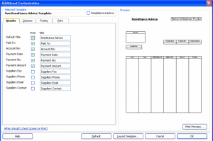 Design a remittance advice in QuickBooks