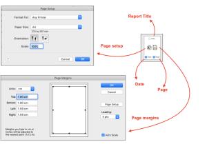 page setting