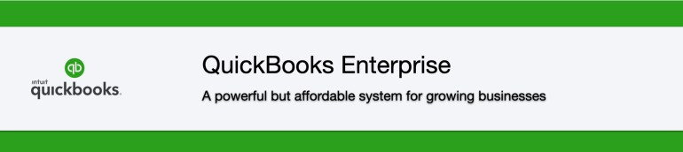 QuickBooks Enterprise - A powerful but affordable system for growing businesses