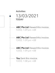 QBO - monitor the invoice progress
