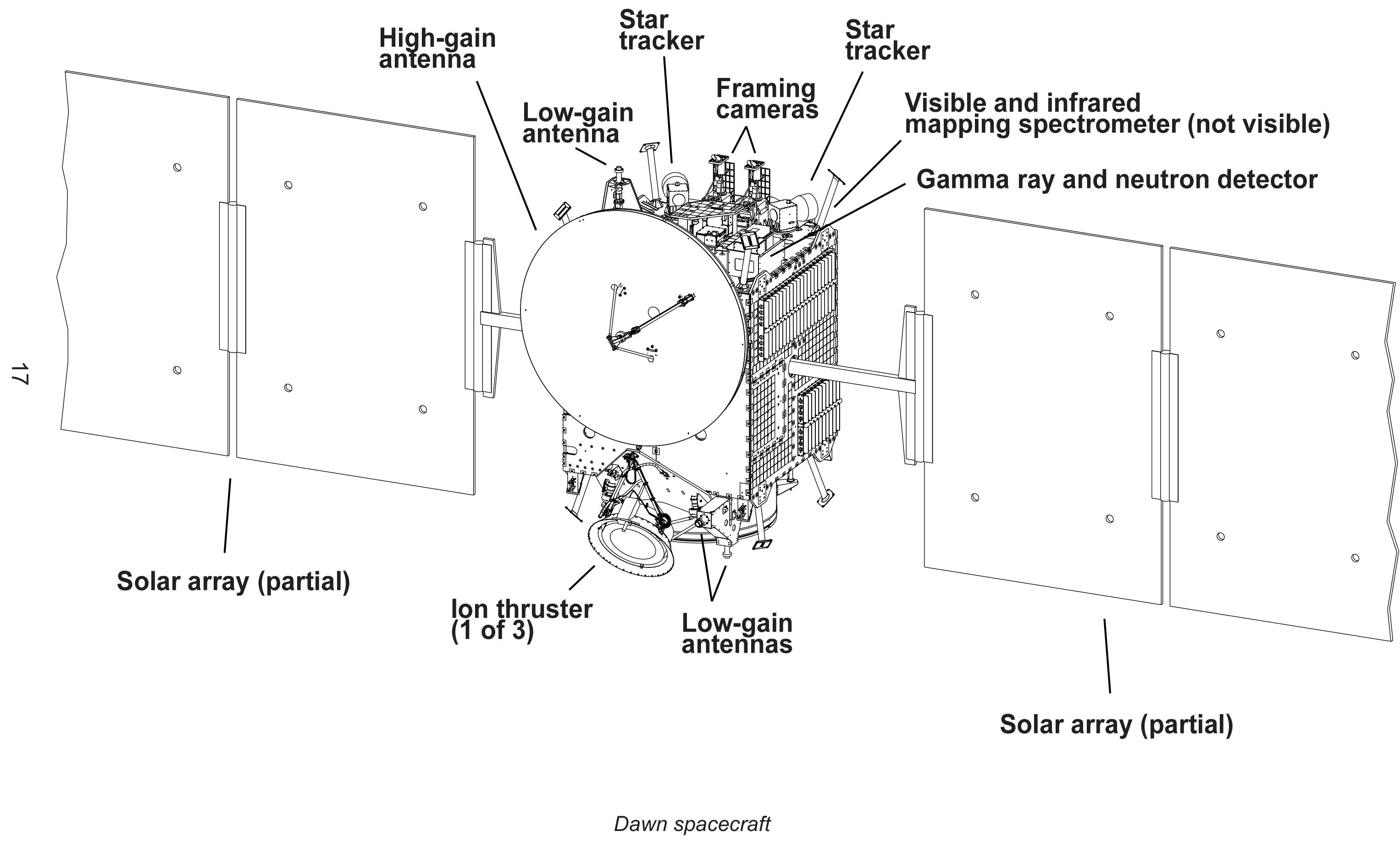 Dawn Spacecraft Diagram No 1