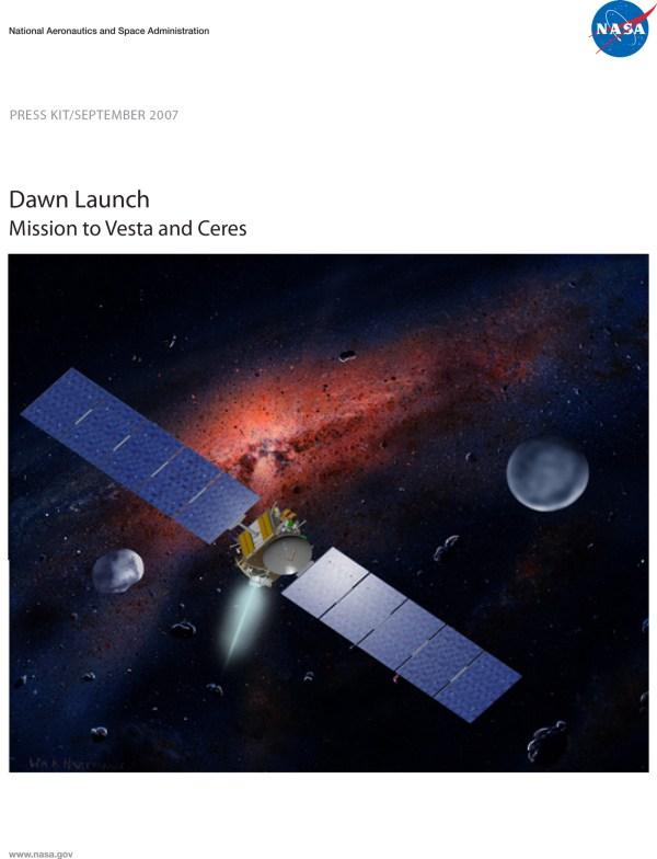 Dawn Launch Press Kit Solar System Exploration NASA Science