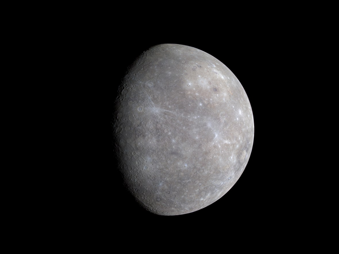 MESSENGER's Wide Angle Camera (WAC), part of the Mercury Dual Imaging System (MDIS), is equipped with 11 narrow-band color filters.