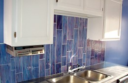Stained Glass Backsplash + Custom Stainless Table