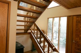 White Oak Stairs and Landing