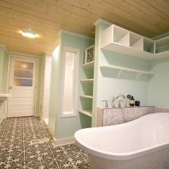 Era-Sensitive 20th Century Farmhouse Bathroom Remodel & Addition