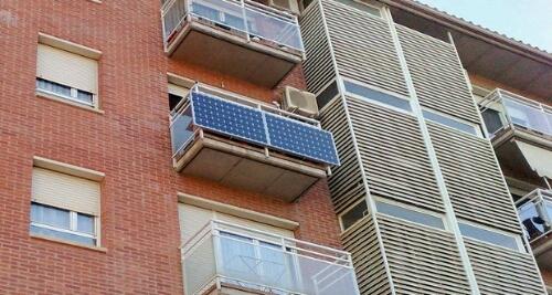 Balcones fotovoltaicos,a medida, para cubrir la iluminación !!