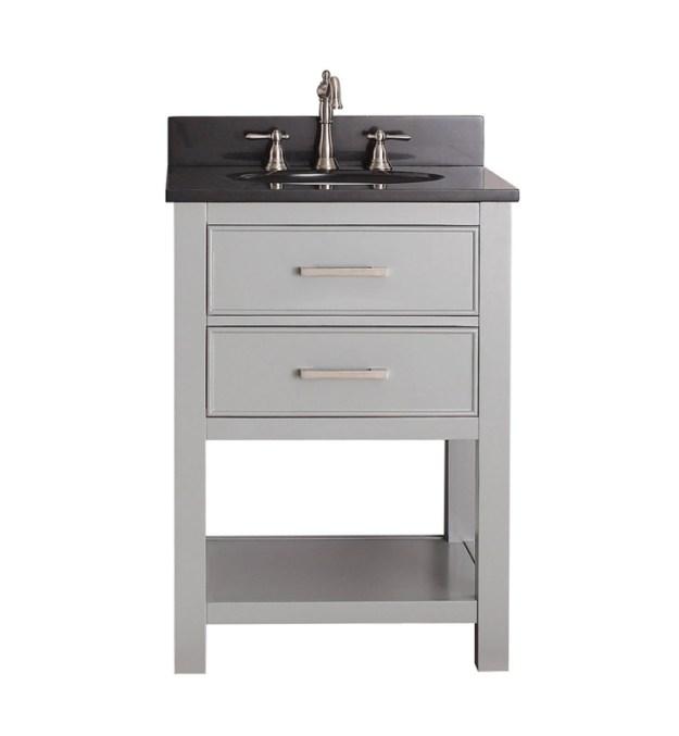 "avanity brooks-v24-cg brooks 24"" bathroom vanity in chilled gray"