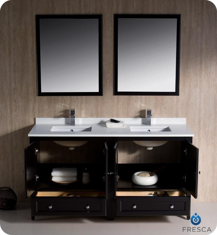 60 bathroom vanity double sink menards