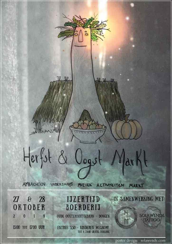 Poster Oogstfeest Ijzertijdboerderij Dongen Atelier Solawende