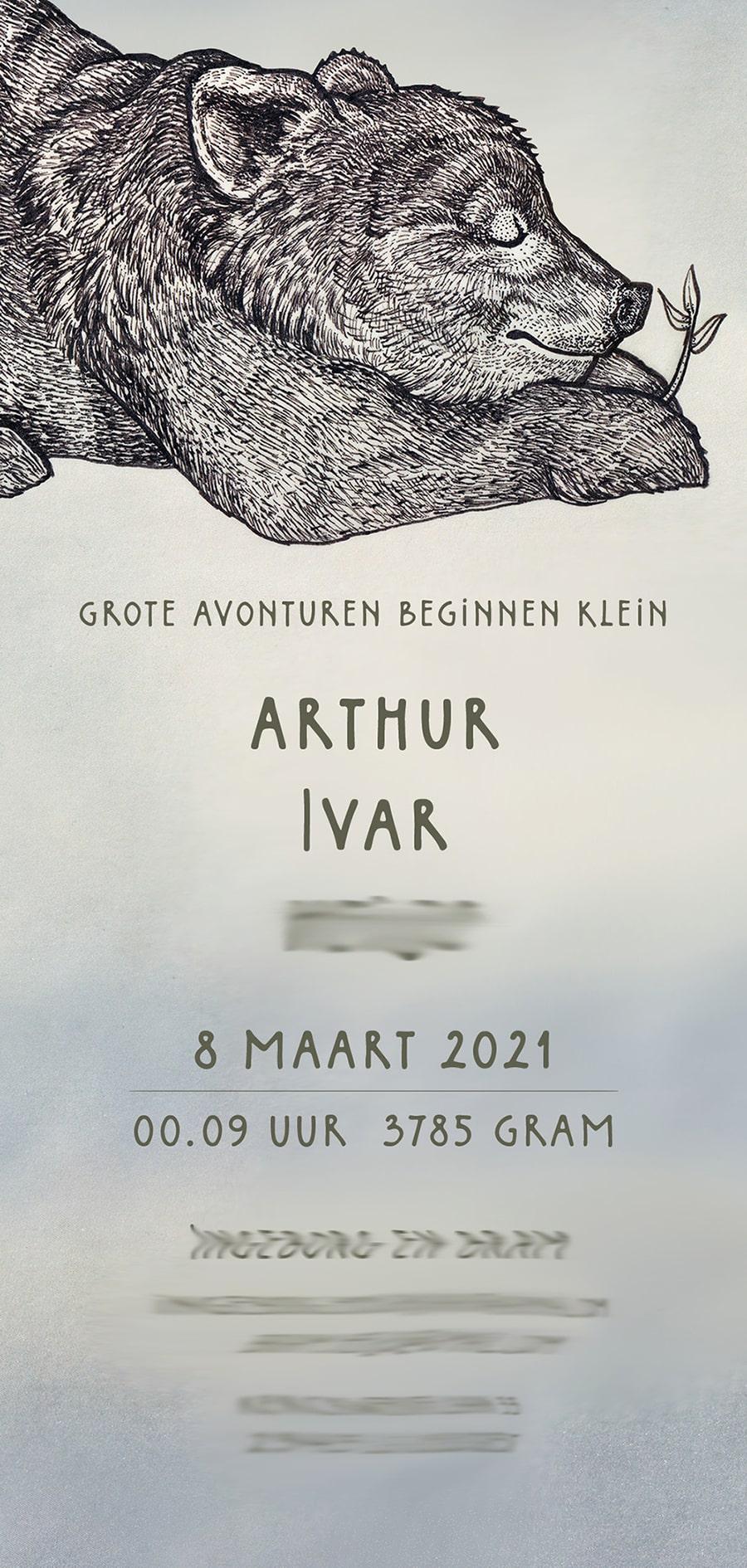 Birthcard_Arthur_Atelier_Solawende_typography