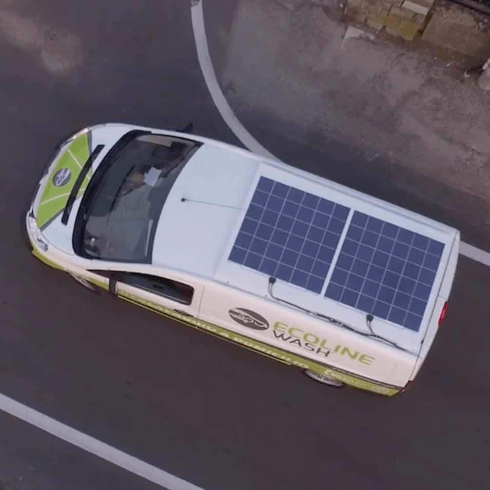 Solbian Solar EcoLine Carwash solar powered