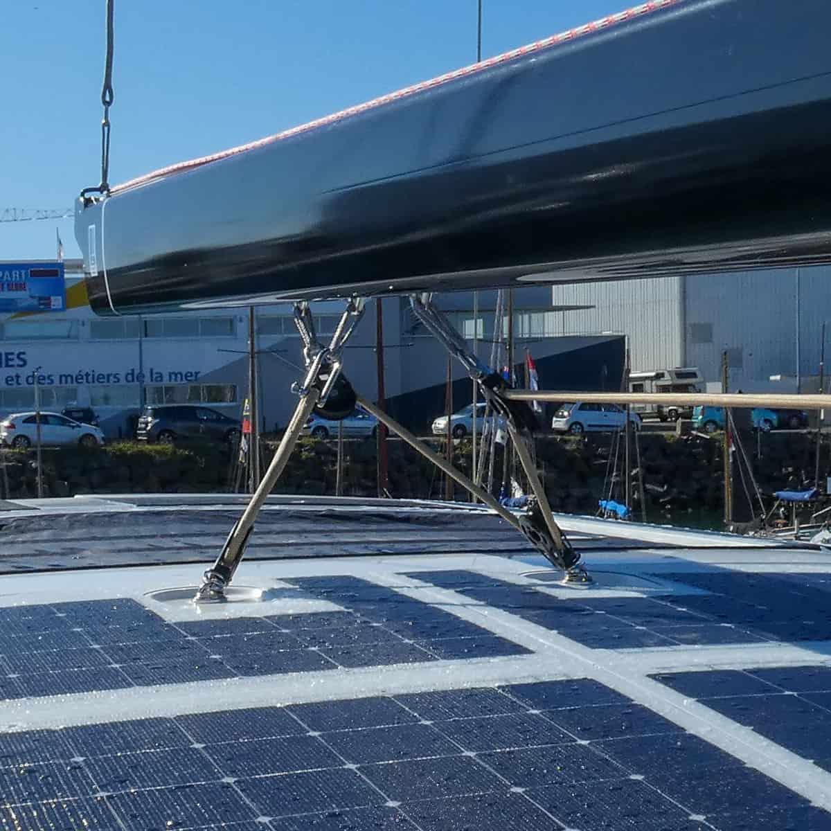 Solbian solar Beneteau Yacht 62 walkable deck hardtop solar panel