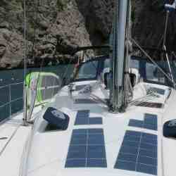 Bavaria 39 sailing yacht 2005 deck-mounted photovoltaic walkable Solbian solar