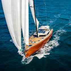 Pegasus 50 sailing yacht solar panels Solbian solar