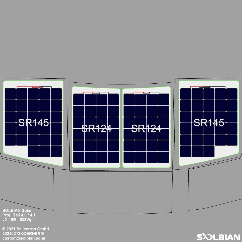Catana Bali 4.0 4.1 Katamaran Solaranlage begehbar Solbian Solar Plan