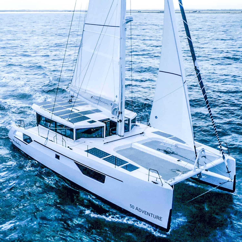 Windelo 50 Adventure Solbian solar PV walkable sustainable catamaran sailing