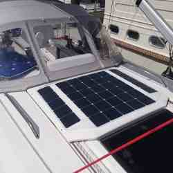 Dehler 34 Segelyacht Performance Cruiser Solbian Solar Solaranlage Solarmodul begehbar maßgefertigt