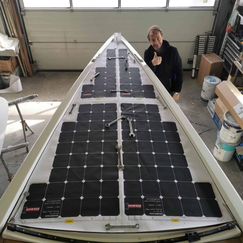 A-Yachts a27 Segelyacht Daysailer Solbian Solar begehbar Solarmodul Solaranlage Deck geklebt Yacht