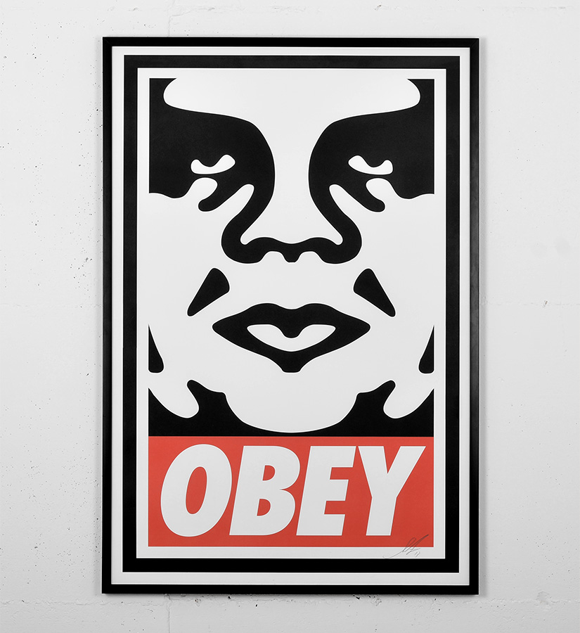 shepard fairey obey offset poster artwork offset print signed by the artist