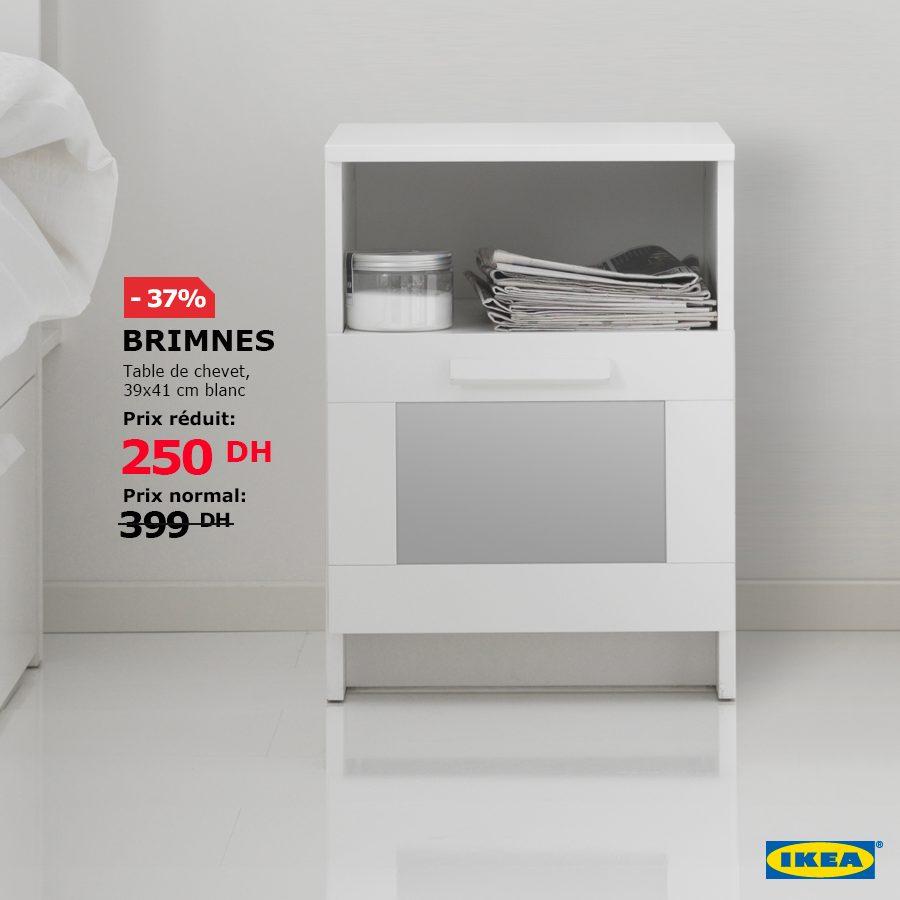 Soldes Ikea Maroc Table De Chevet Brimnes 250dhs Au Lieu De