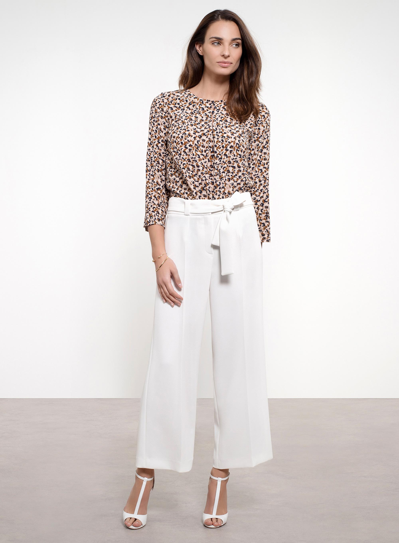 Pantalon Pantalon chic double crepe Un Jours Ailleurs