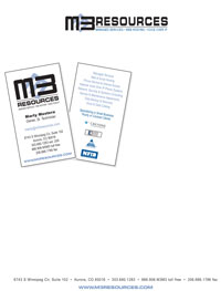 Business Card Design M3 Resources