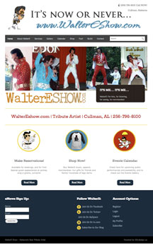 Website Design and Internet Marketing Services for Walter E Show, Elvis Tribute Artist