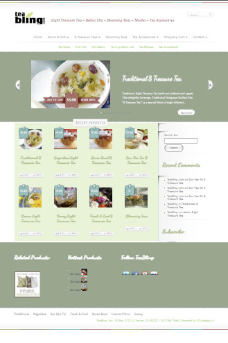 Website Design TeaBling, Unique Tea Distributor, Eight Treasure Tea, 8 Treasure Teas and tea accessories