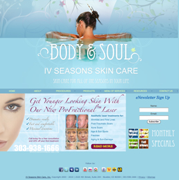 IV Seasons Skin Care Clinic Website