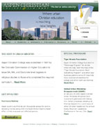 Aspen Christian College Website Design and Website Hosting Services