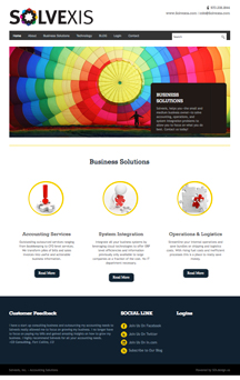 Website Design Services for Solvexis Accounting Services
