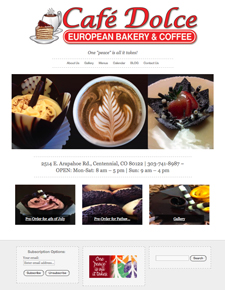 Cafe Dolce Bakery & Coffee Website