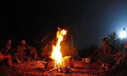 SSG night camp fire in Jungle