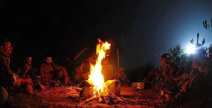 SSG night camp fire in Jungle