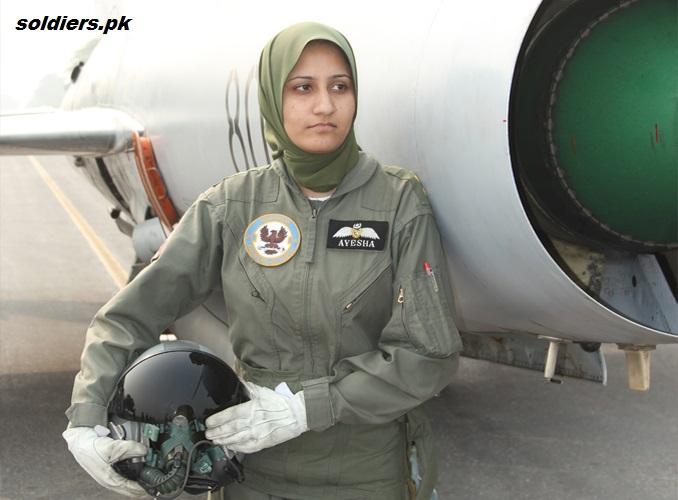 Ayesha farooq first female fighter pilot