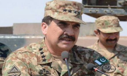 Briefing of COAS about flood