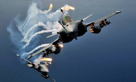 Fighter Aircraft throwing Flares