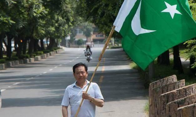 Chinese celebrating Pakistans Independence day