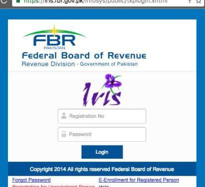 FBR NTN Registration online
