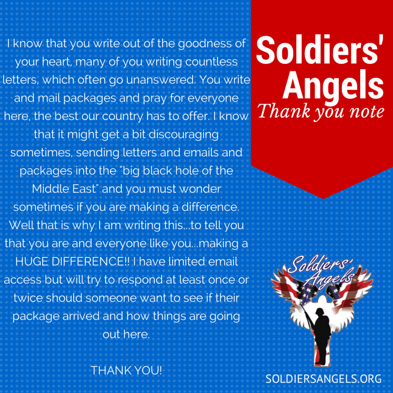 Soldiers Angels Show Your Appreciation To Deployed