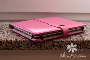 Kindle with pink case