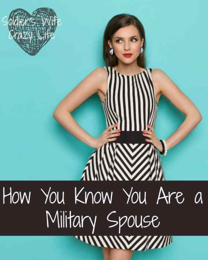 How you know you are a military spouse