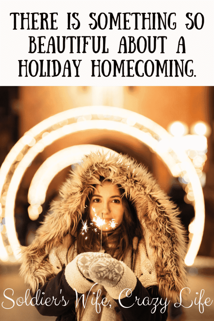 There is Something So Beautiful About a Holiday Homecoming.