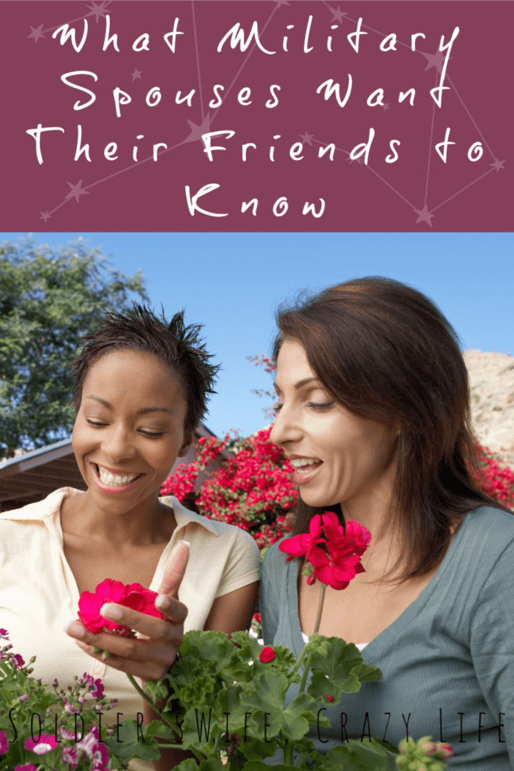 What Military Spouses Want Their Friends to Know