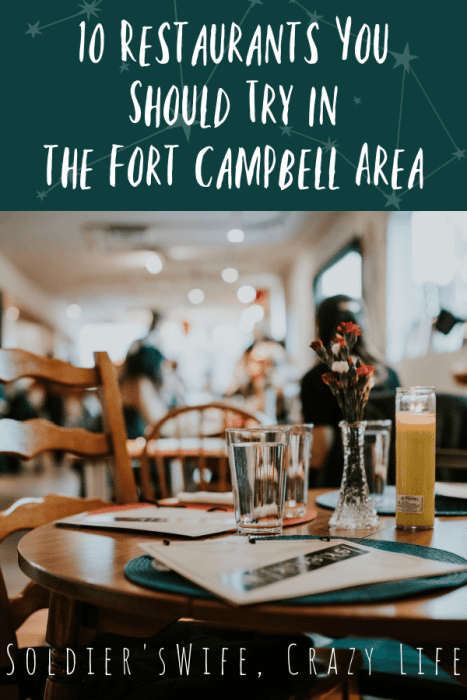 10 Restaurants You Should Try in the Fort Campbell Area
