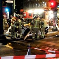 Unfallauto Bernauer Straße geborgen
