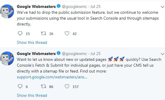 Twitter GoogleWebmaster