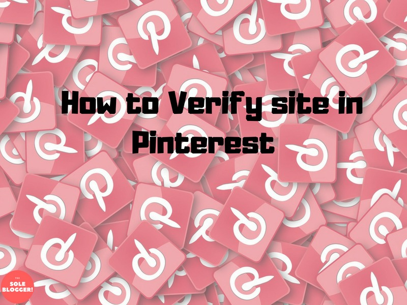 Verify site in Pinterest